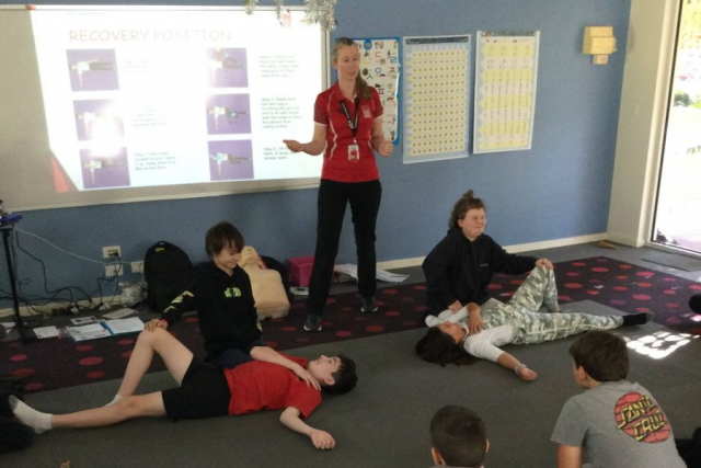 First Aid Training for the Year 5s and 6s