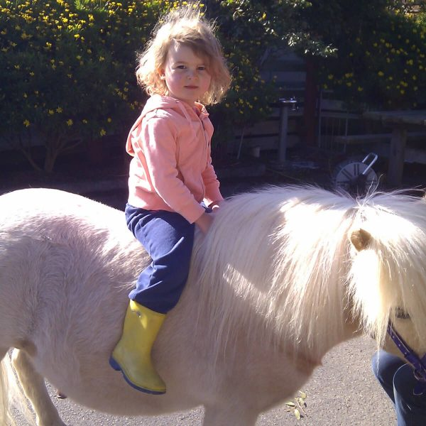 Horse Riding Lessons - Prep Girl on a Pony