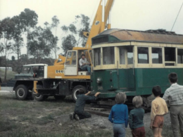 Our History - Moving an old tram
