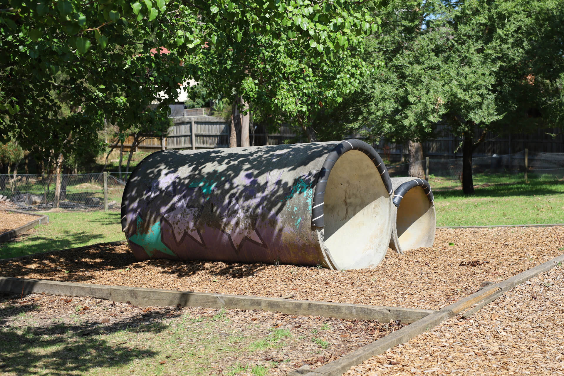 Outdoor Playground - Concrete Tunnels