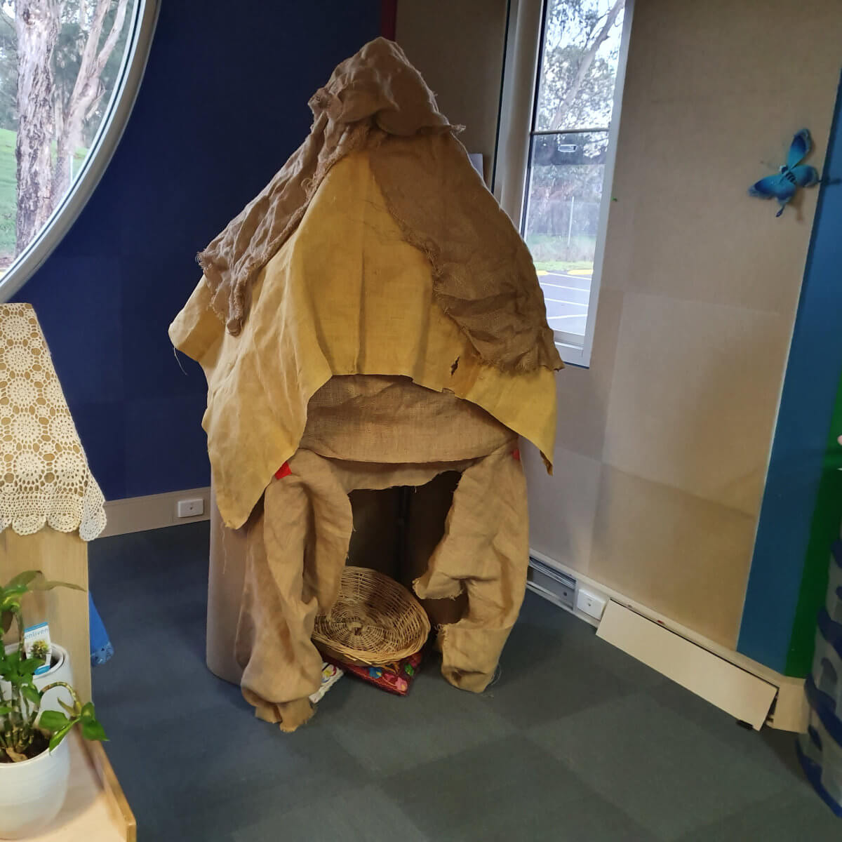 African Hut in Classroom
