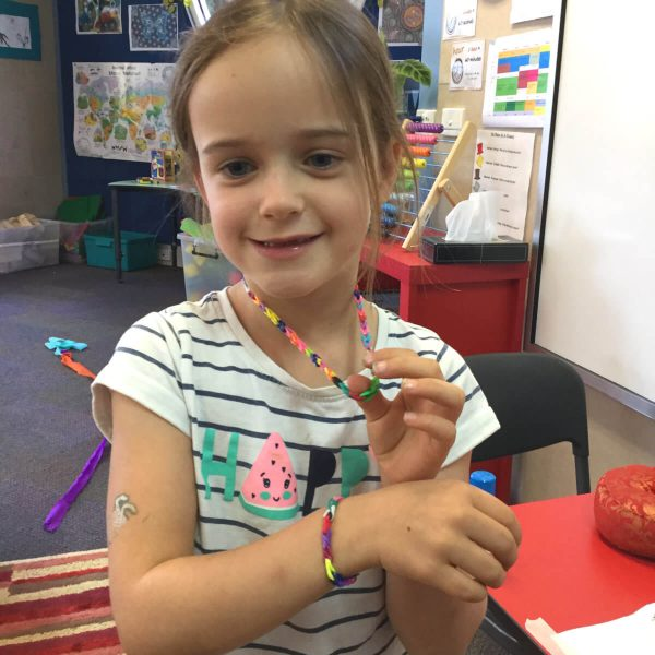Primary School Homework - Loom Band Bracelet & Necklace