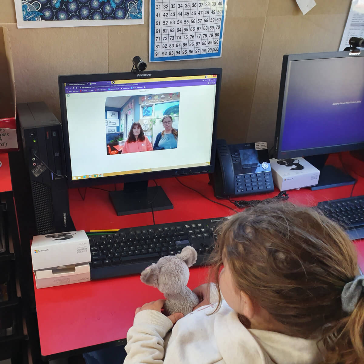 Remote Learning Again with a Video Call