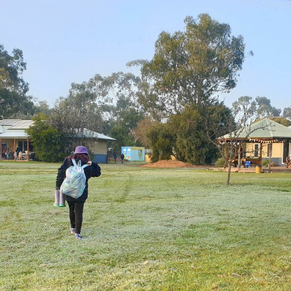 Typical School Day - Walking on a Cold Morning