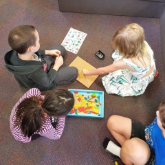 Typical School Day - Playing Games on the Classroom Floor